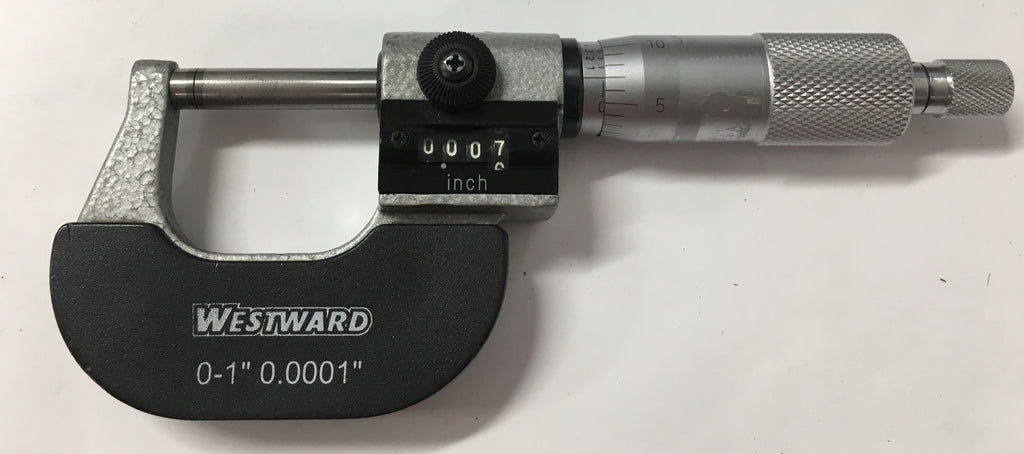 "Westward Rolling Digital Counter Micrometer, 0-1"" Range, .0001"" Graduation *USED/RECONDITION*"