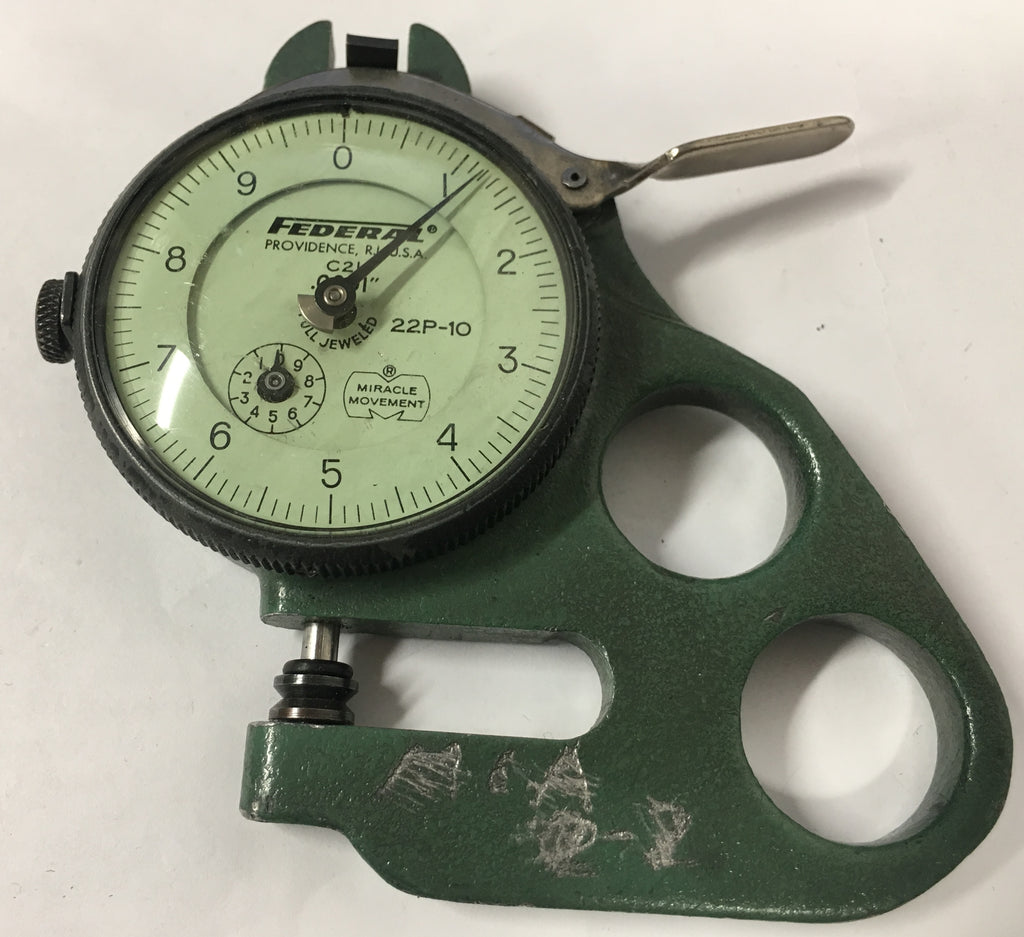 "Mahr Federal 22P-10 Dial Thickness Gage, 0-.10"" Range, .0001"" Graduation *USED/RECONDITIONED*"