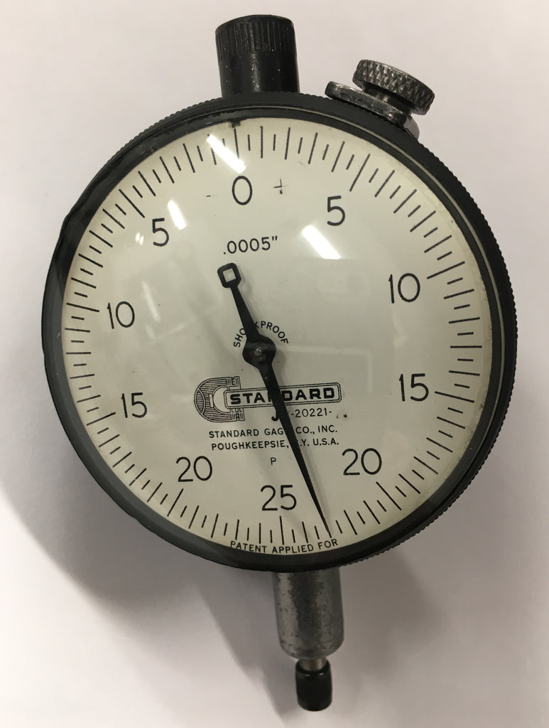 "Brown & Sharpe Standard Gage J1-20221A Dial Indicator, 0-.150"" Range, .001"" Graduation *USED/RECONDITIONED*"