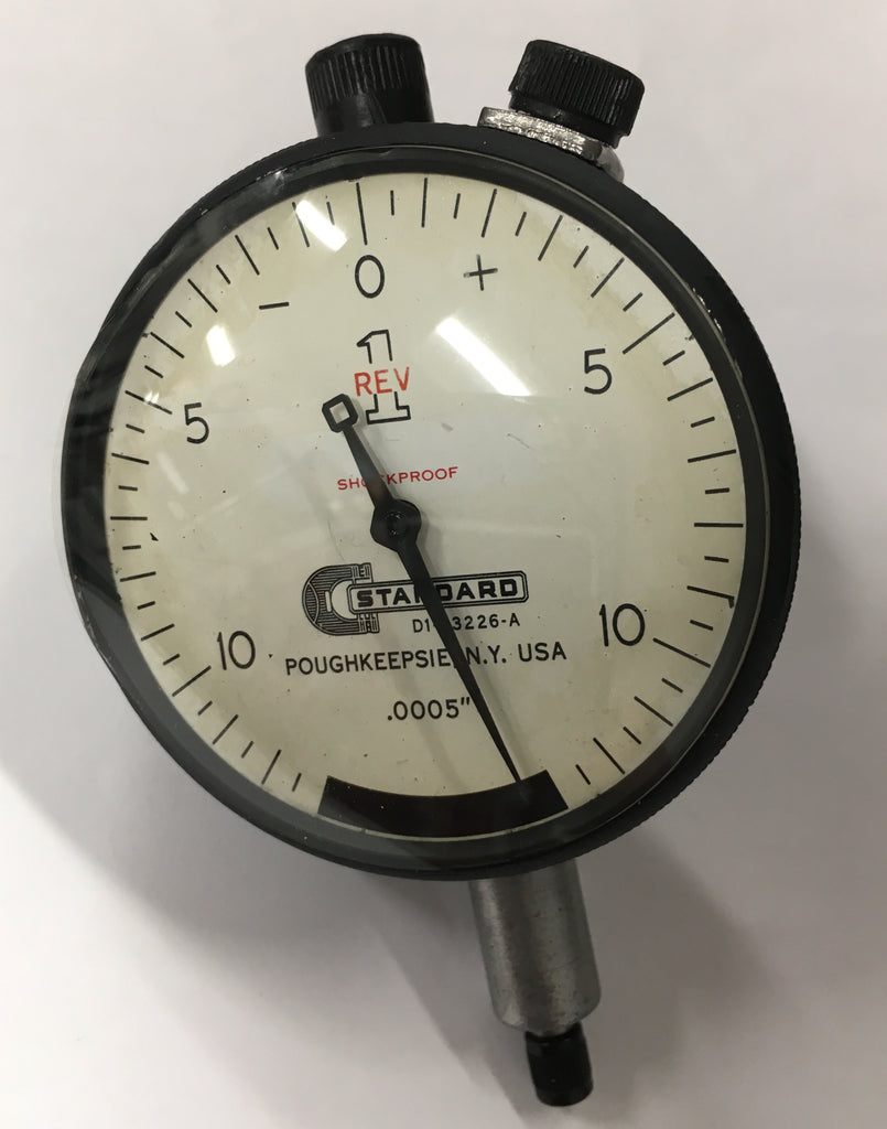 "Brown & Sharpe Standard Gage D1-23226-A Dial Indicator, 0-.075"" Range, .0005"" Graduation *USED/RECONDITIONED*"