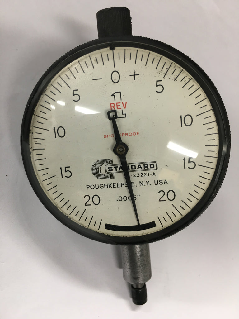"Brown & Sharpe Standard Gage J1-23221-A Dial Indicator, 0-.025"" Range, .0005"" Graduation *USED/RECONDITIONED*"
