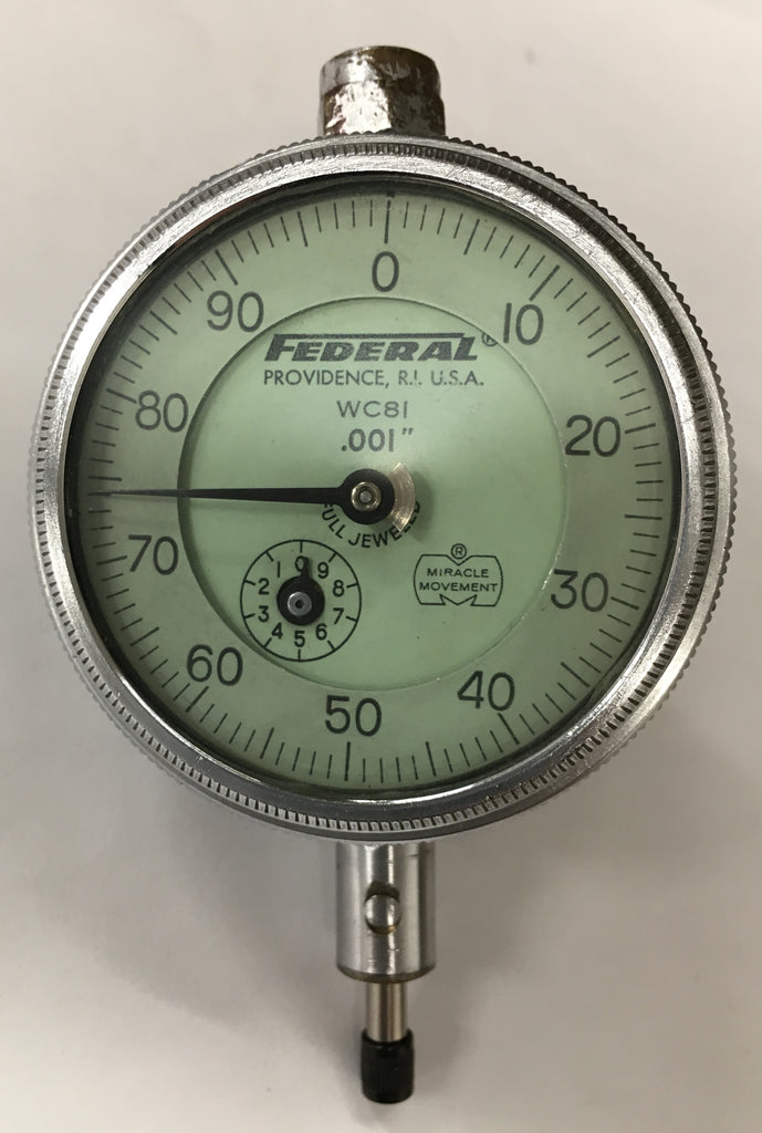 "Federal WC8I Dial Indicator, 0-.250"" Range, .001"" Graduation *USED/RECONDITIONED*"