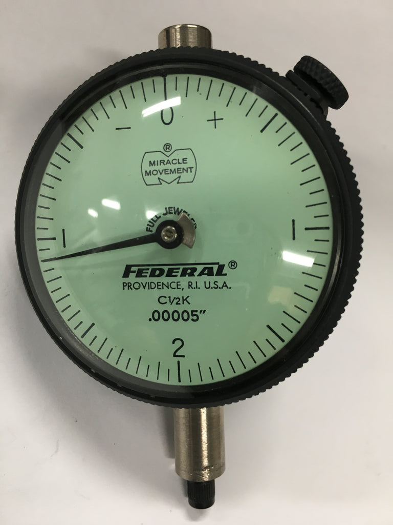 "Federal C1/2K Dial Indicator with Lug Back, 0-.010"" Range, .00005"" Graduation *USED/RECONDITIONED*"