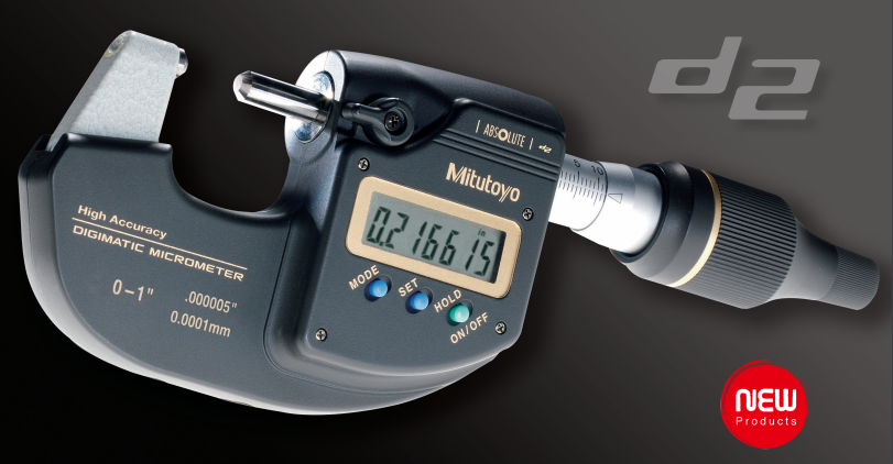 Mitutoyo 293-100-10 Sub-Micron Digimatic Micrometer, 0-25mm Range, 0.0001mm/0.0005mm Resolution