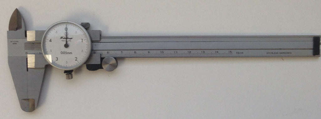 Mitutoyo 505-633 Dial Caliper, 0-150mm Range, 0.05mm Graduation *USED/RECONDITIONED*