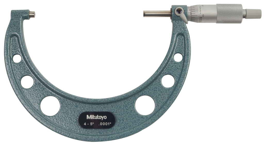 "Mitutoyo 103-219 Outside Micrometer, 4-5"" Range, .0001"" Graduation"