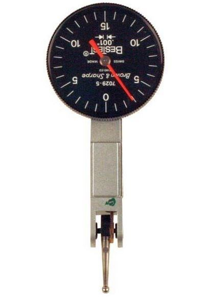 "Brown & Sharpe 599-7029-5 BesTest Dial Test Indicator, .030"" Range, .001"" Graduation"