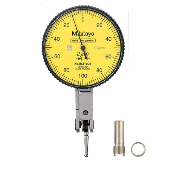Mitutoyo 513-405-10E Dial Test Indicator, 0.2mm Range, 0.002mm Graduation