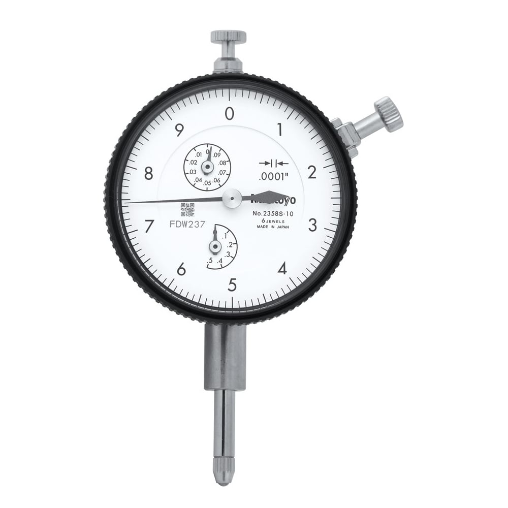 "Mitutoyo 2358S-10 Dial Indicator .50"" Range .0001"" Resolution"