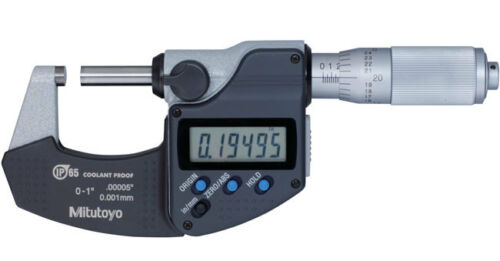 "Mitutoyo 293-335 Digimatic Micrometer, 0-1""/0-25mm Range, .00005""/0.001mm Resolution *New-Clearance Item"