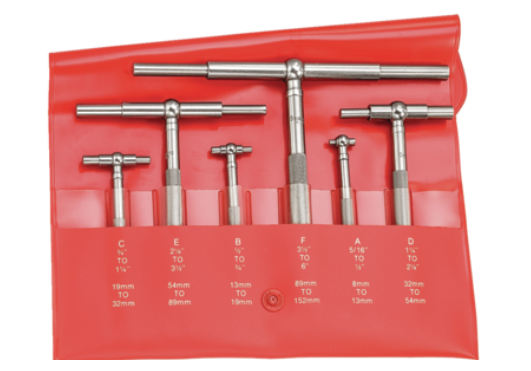 "Starrett S579HZ Telescoping Gage Set 5/16-6""/8-150mm Range"