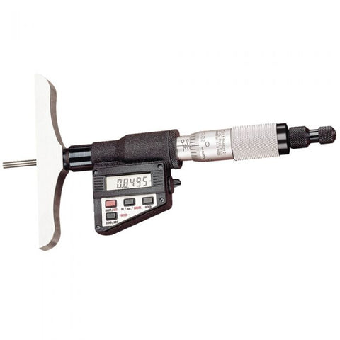 "749BZ-6RL Starrett Electronic Micrometer Depth Gage, 0-6""/0-150mm Range, .0001""/0.001mm Resolution"