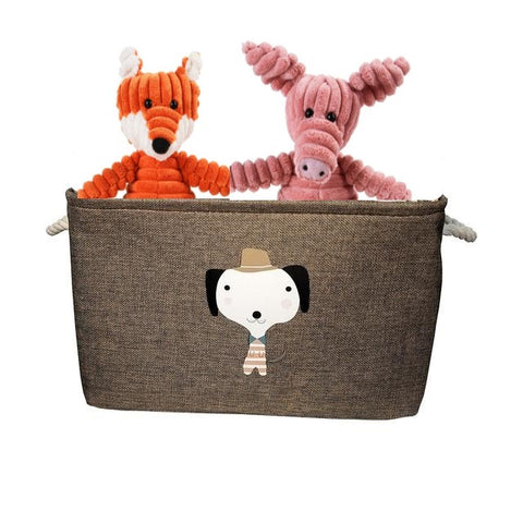 Folding dog toy storage box