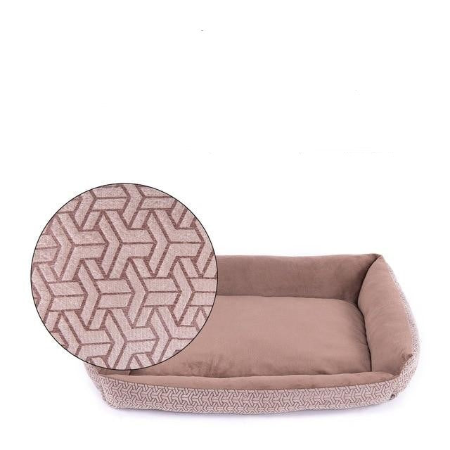 Grey and coffee comfy dog beds