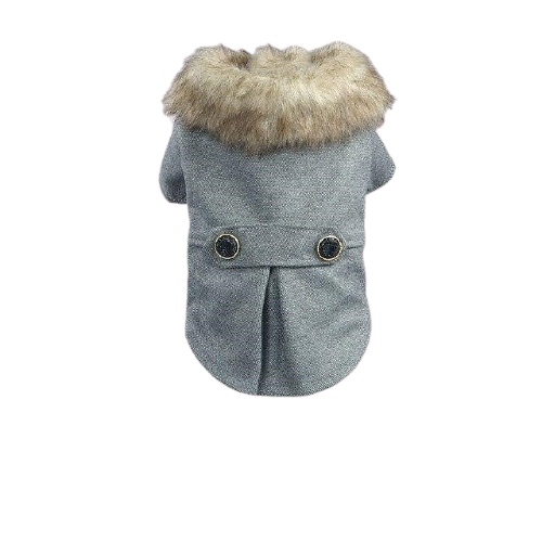 Faux fur dog coat