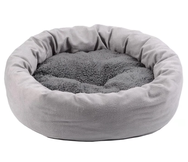Circular cat bed and small dog bed - PetSnooze.co.uk