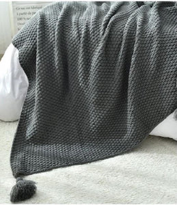 Fur free couch & bed blanket throw