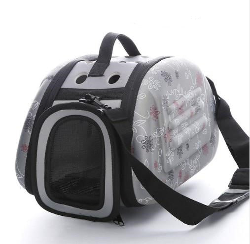 Travel carrier for small dogs and cats