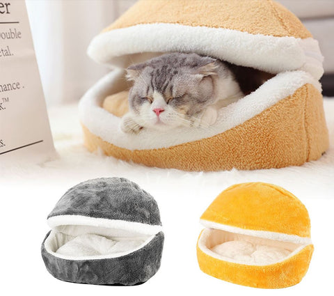 Cosy hooded cat & puppy den