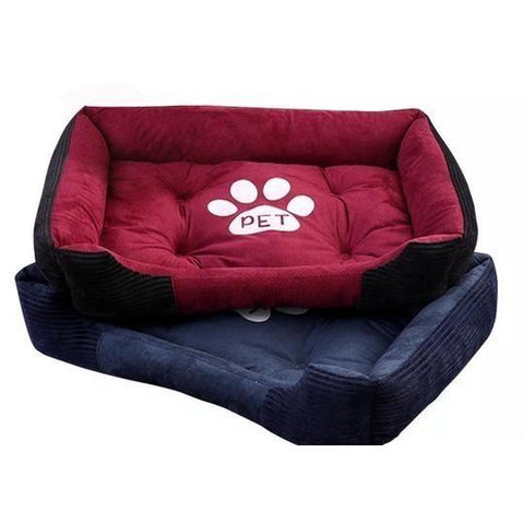 Classic paw print design bed - PetSnooze.co.uk