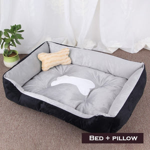 Classic dog bone bed with FREE PILLOW