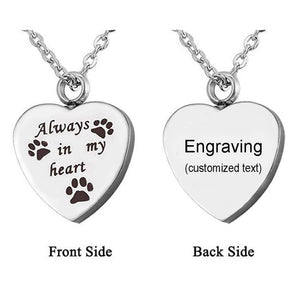 "Personalised ""Always In My Heart"" Pet pendant"