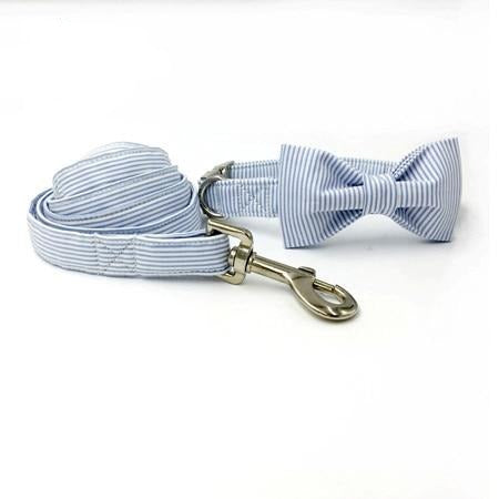 Classic striped dog collar and lead