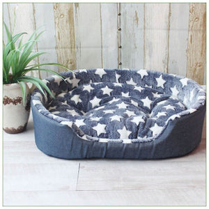 Soft dog bed stars dots or camouflage