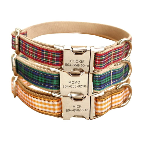 Personalised plaid collar