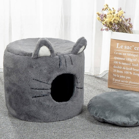 Ears and whiskers cat bed - PetSnooze.co.uk