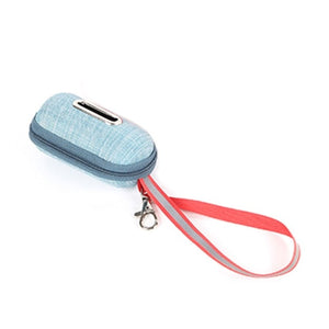 Portable pet poop bag dispenser