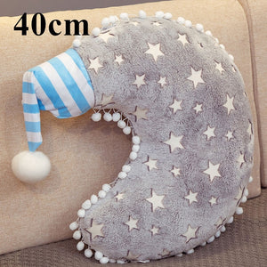Grey with stars cloud moon or star cushion