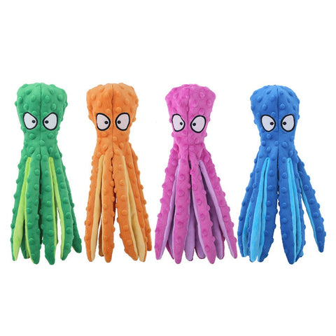 Octopus soft plush squeaky toy