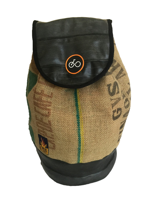RECYCLED INNER TUBE & COFFEE SACK DUFFEL BAG