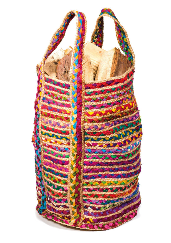 MULTI COLOUR COTTON AND JUTE CHINDI BAG