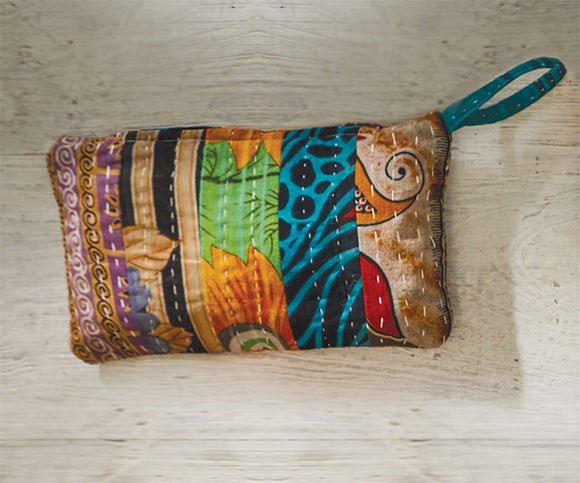 VINTAGE KANTHA MAKE-UP BAG/PENCIL CASE
