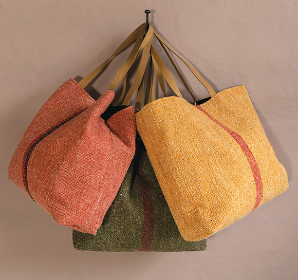 RECYCLED COTTON kHADI SHOULDER BAG