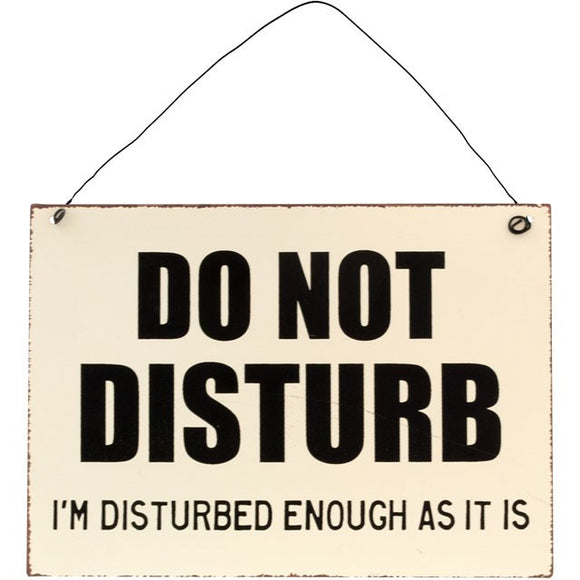 DO NOT DISTURB METAL WALL SIGN