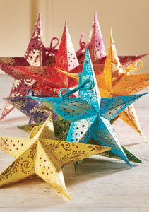 SET OF 8 BATIK RAINBOW MINI STARS