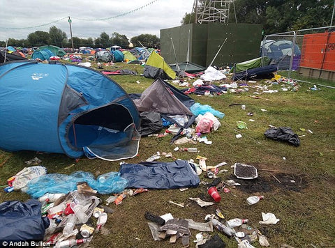 Tents left at music festival