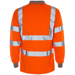 Hi Vis Long Sleeve Bird Eye Polo Shirt