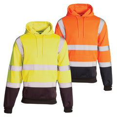 Hi Vis 2 Tone Hooded Sweatshirt