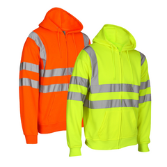 Kapton Hi-Vis Full Zip Hooded Sweatshirt