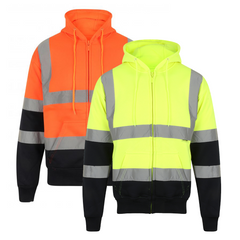 Kapton Hi-Vis Two Tone Full Zip Hooded Sweatshirt
