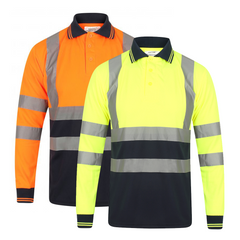 Kapton Hi-Vis Long Sleeve Two Tone Polo Shirt