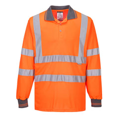 Hi-Vis Long Sleeved Polo