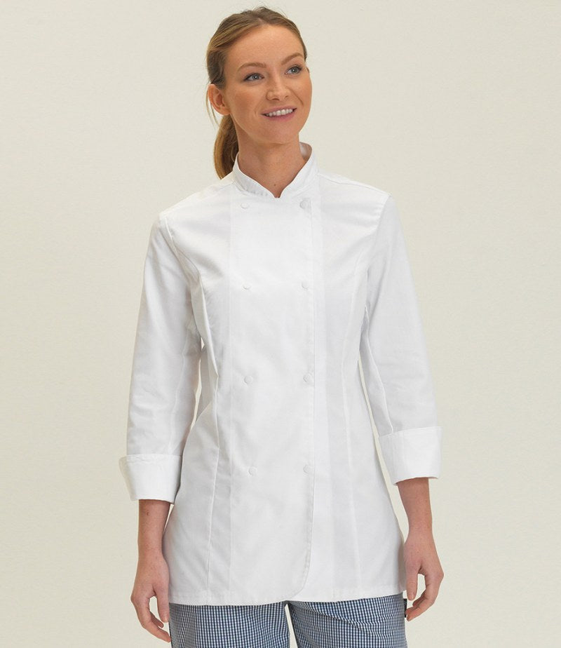 Dennys Ladies Long Sleeve Premium Chef's Jacket