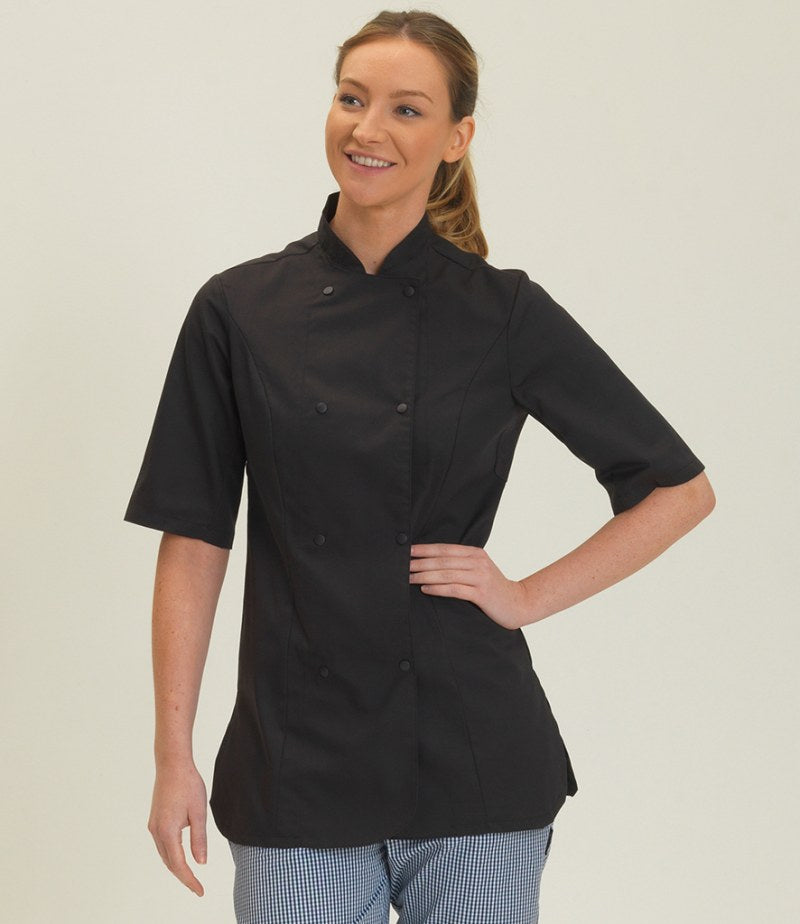 Dennys Ladies Short Sleeve Premium Chef's Jacket
