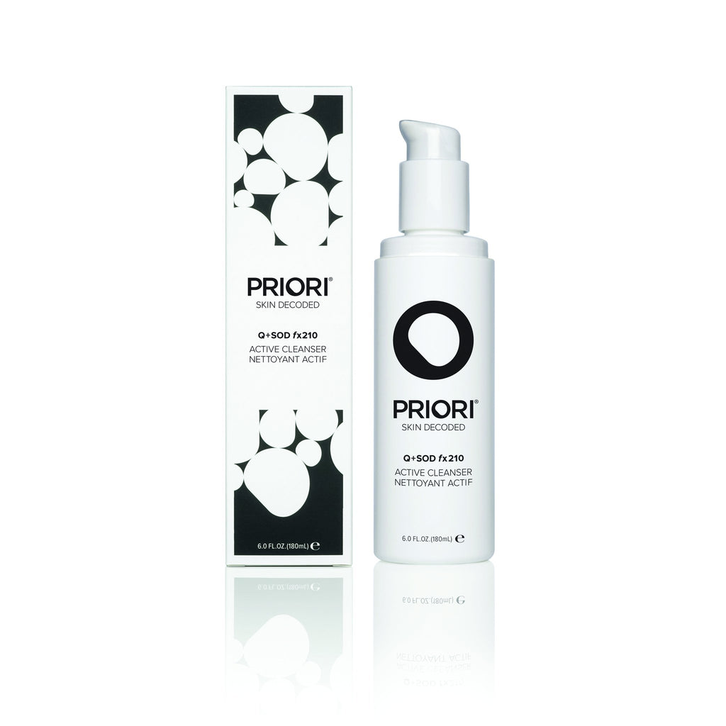 Priori Active Facial Cleanser | Hydrating Exfoliating Face Wash with Lactic and Salicylic Acid