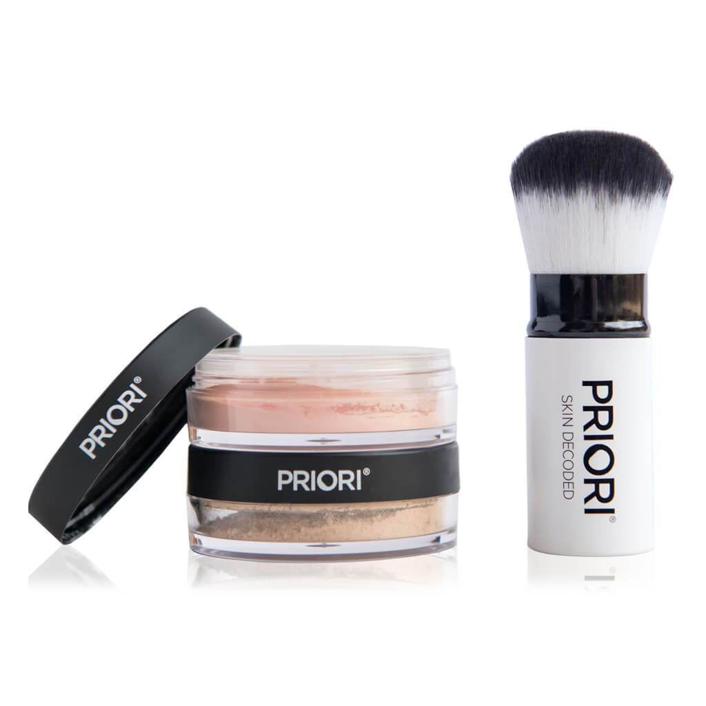Priori Kabuki Retractable Makeup Brush and Mineral Powder